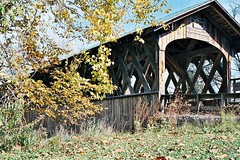 FOX CREEK BRIDGE (MIKECNY) Tags: newyork fall coveredbridge schoharie truss
