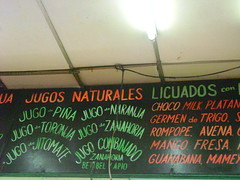 jugos!! (saug_dat) Tags: city food mexico mexicocity juice centro stall signage jugos centrohistorico historico