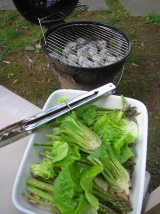 grilling baby bok choy