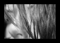 To blur or not to blur... (MagaMag80) Tags: portrait selfportrait macro face hair nose blackwhite dof bokeh depthoffield autoritratto canoneos350d ritratto viso biancoenero pdc naso capelli profonditdicampo