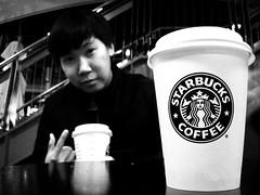 Starbucks Coffee (man's pic) Tags: nightphotography newzealand portrait people blackandwhite bw blackwhite auckland starbucks nz northisland kiwi russian blacknwhite dmitry lowlightphotography maldivianphotographer manspic apartmentmate cityofsail munahahmed aoeteora