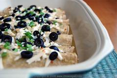 Green Chile Potato Enchiladas (chow vegan) Tags: food potato enchiladas greenchile