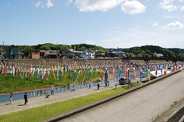 加茂市の鯉のぼり