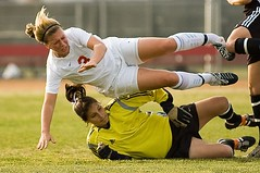 Soccer Collision (Eric Wolfe) Tags: california usa sports unitedstates soccer highschool fullerton collision injuries brokenbone original:filename=200602025568jpg