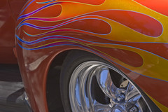 Flamming Wheels (Damian Gadal) Tags: california red abstract car nikon may nikond100 nostalgia chrome d100 2008
