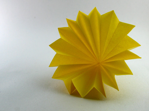 filter paper flower