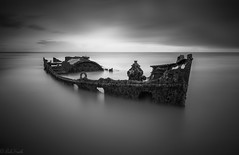 Carbon black (evorichie101) Tags: blackandwhite bw black white seascape wreck boat long exposure landscape nikon zeiss lee 10stopper 10stop