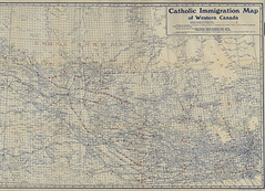 Catholic Immigration Map of Western Canada [1900]