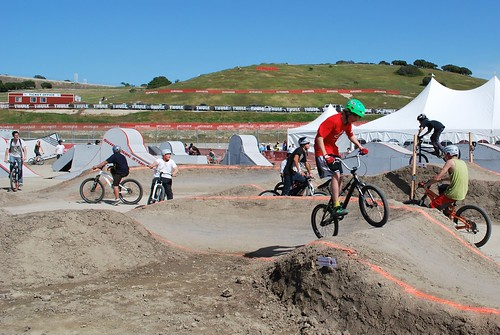 Kids enjoy the SRAM Dual Stunt Area
