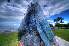 A whole new world (Tempered State) Tags: sky clouds artwork mosaic australia esplanade queensland cairns hdr fnq publicartwork telescopus dominicjohns