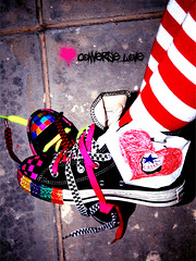 pimp ur converse (✧S) Tags: black love colors shoes heart stripes ground converse checkered allstar laces colourlicious