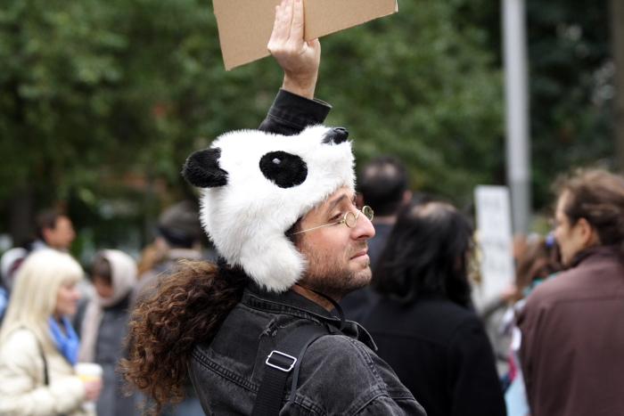 Panda head dude