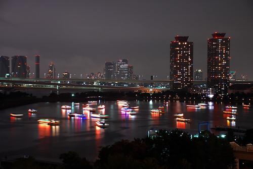 Restaurant boats at Odaiba - Tokyo bay