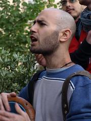 , ! (galit lub) Tags: city blue portrait people man israel jerusalem citylife bodylanguage demonstration strike