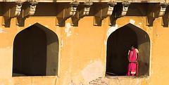 Yearning (rovinglight) Tags: india window amber waiting lonely jaipur lpwindows