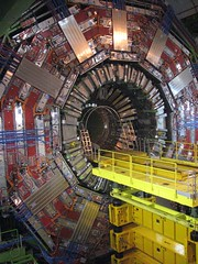 LHC : CMS waiting for tracker insertion () Tags: france switzerland suisse geneva geneve cern particle detector physics highenergy cavern lhc cms accelerator particlephysics cessy point5 pa5 detecteur