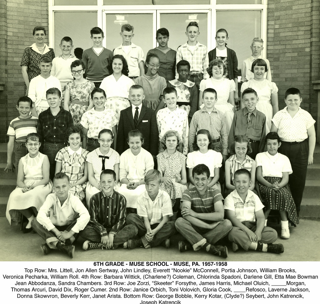 6th Grade - Muse PA 1957-1958