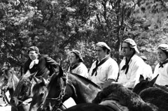 mientras el ganado engorda, los comensales se chupan los dedos (quino para los amigos) Tags: horses black argentina work caballos trabajo waiting farm bn campo ganado sombrero gauchos espera boina chacra miargentina