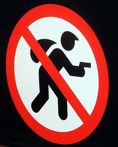 Its too bad signs like this arent very effective. Image from Flickr.
