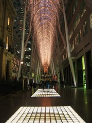 Christmas at BCE Toronto (swisscan) Tags: christmas light toronto canada building architecture skyscraper office calatrava bce blueribbonwinner anawesomeshot aplusphoto diamondclassphotographer flickrdiamond