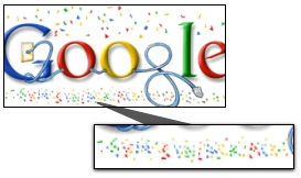 Google January 1, 2008 Logo Easter Egg