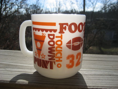 Glasbake Football Mug 2