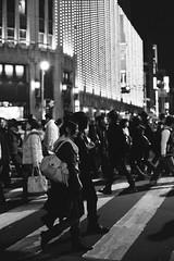 .ISETAN. (F_blue) Tags: tokyo shinjuku fuji crossing departmentstore crosswalk nikonf 50mm12  isetan   neopan1600superpresto fblue2008