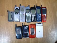 過去の携帯を捨てる記念