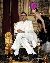 Sheikh Majed Al Sabah & Isabella Blow (by Donald Mcpherson Fashion photographer) (Donald McPherson) Tags: fashion stone photographer top hats donald blow v vogue american izzy rolling mcpherson villamoda newyorkcityfashion fashionlocation highfashionmodels majedalsabah