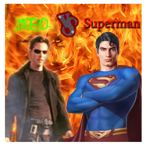 I typed Neo vs Superman into Google and this was the best image I found. You've disappointed me yet again, internet.