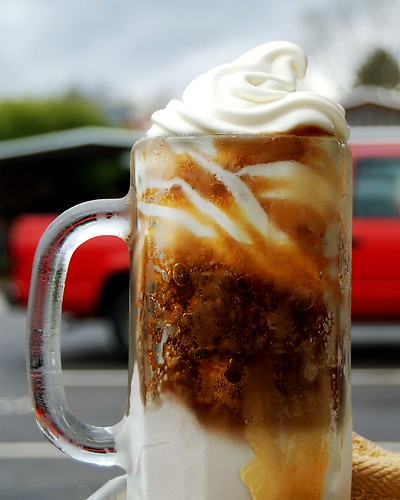 Root beer float at the Frosty Top in Huntington, WV