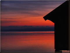 Sunset at lake Ammer with alps (MyOakForest) Tags: sunset alps bayern sonnenuntergang alpen ammersee ammer stegen golddragon mywinners superbmasterpiece bayaria diamondclassphotographer goldstaraward