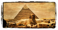 Giza & Polaroid.- (ancama_99(toni)) Tags: africa old trip travel vacation sky urban sculpture holiday abstract color building art texture nature monochrome yellow sphinx sepia architecture photoshop vintage buildings geotagged photography photo interestingness interesting arquitectura edificios ancient arte desert pyramid esfinge photos antique edificio egypt esculturas mosque photographic nile explore textures cairo egyptian temples layers pyramids egipto 2008 abstracto giza texturas egitto egipte egypte pirmide 1000views afrique pharoh texturized 50faves 50favs egyptien aljizah 35faves 25faves sungods aplusphoto holidaysvacanzeurlaub megashot interesantsimo fdream