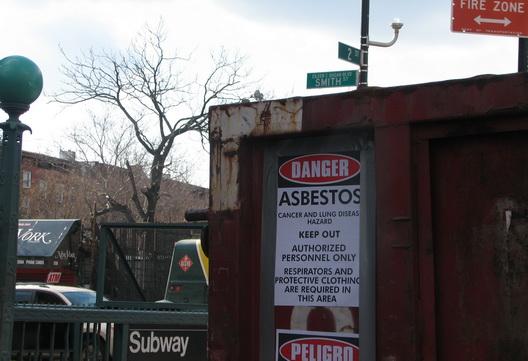 asbestos removal f train