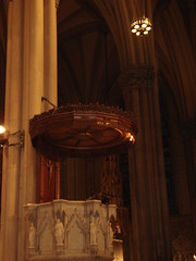 The Pulpit in Saint Patrick's Cathedral (Melissa Wentarmini) Tags: nyc newyorkcity vacation newyork manhattan sony cybershot pulpit saintpatrickscathedral march2008