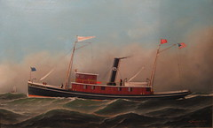 Tugboat George W. Pride (Piedmont Fossil) Tags: art philadelphia painting ship pennsylvania tugboat tug independenceseaportmuseum