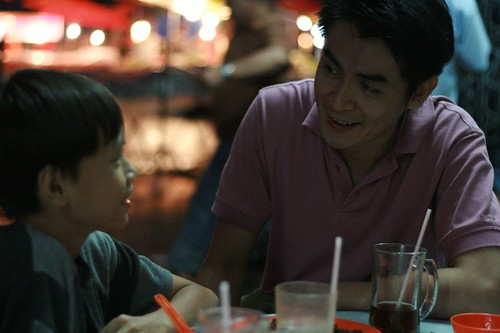 Father and Son having dinner 2