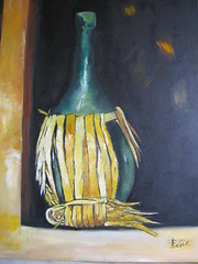 S'impagliada (fiasco) (cicipeis) Tags: verde art arte luce cici fiasco morillo dipinto pittore peis colourartaward colourartawards cicipeis