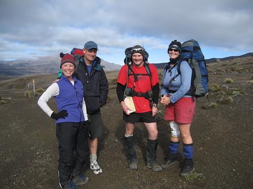 Ginger, Peter, James, Michelle Mt. Ruapehu