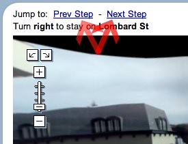 Google Street View Directions