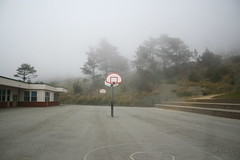 haunted orange ghost basketball court (nicholas venaglia) Tags: california basketball fog saturday venaglia