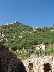 Byzantine ruins from below (steven_and_haley_bach) Tags: byzantine mystras sixthday mistras greecevacation byzantineruins