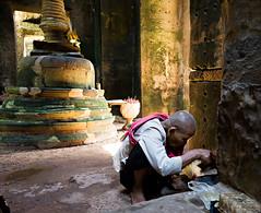 Tea Leaf? (mahonyweb) Tags: temple interestingness interesting cambodia buddha stupa buddhist religion nun explore siemreap angkor preahkhan bayon lightroom chedi stuppa canon1740l canongear top500 flickrexplore magicdonkey canonllens khymer canoneos1dsmarkiii canon1dsmarkiii