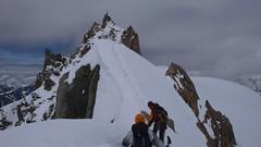 P1050924.JPG (chaletlaforet) Tags: mountaineering chamonix aiguilledumidi cosmiquesarête