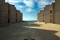 Salk Axis Sun (ken mccown) Tags: architecture concrete pacific modernism lajolla salkinstitute axis louiskahn