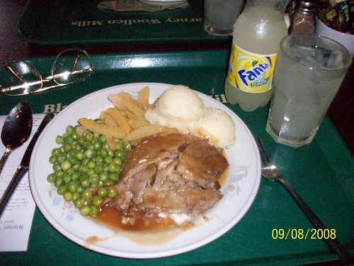 Ireland - Roat Leg of Lamb at Blarney Woolen Mills - Sparking Lemondae and ICE!
