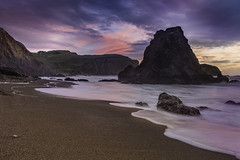 sho and 'em: she (the sea) and him (the land) (pixelmama) Tags: rodeobeach goldengatenationalrecreationarea nationalpark ggnra marin visitmarin seascape sunset findyourpark em shoandem explore pixelmama