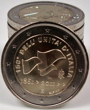 2 Euro Taliansko 2010, 150. výročie zjednotenia Talianska