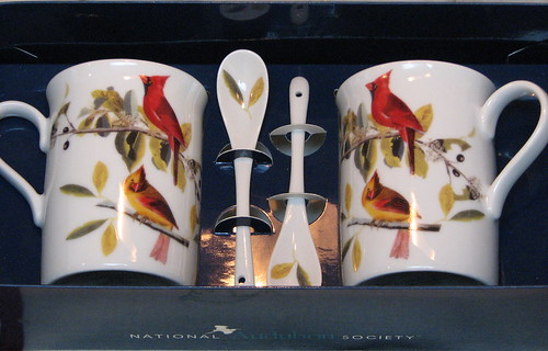Porcelain Mugs and Spoons