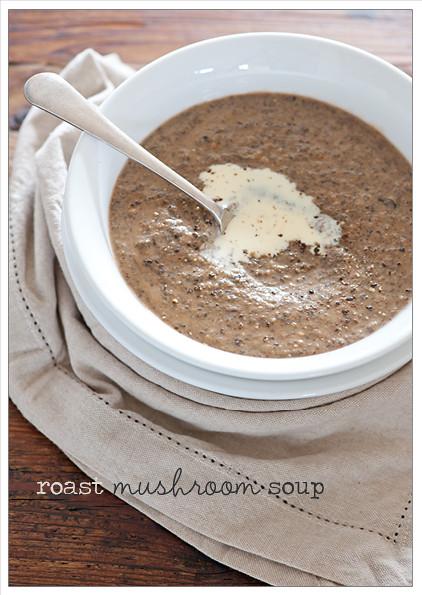 roast mushroom & chickpea soup recipe